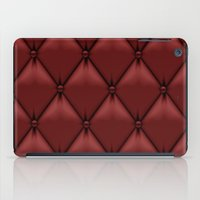 leather iPad Cases featuring red leather by Cardinal Design
