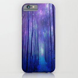 Fantasy Path Purple Blue iPhone Case