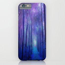 Fantasy Path Purple Blue iPhone Case