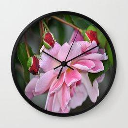 Roses Nture Flowers  Wall Clock