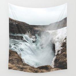 Gullfoss - Landscape Photography Wall Tapestry