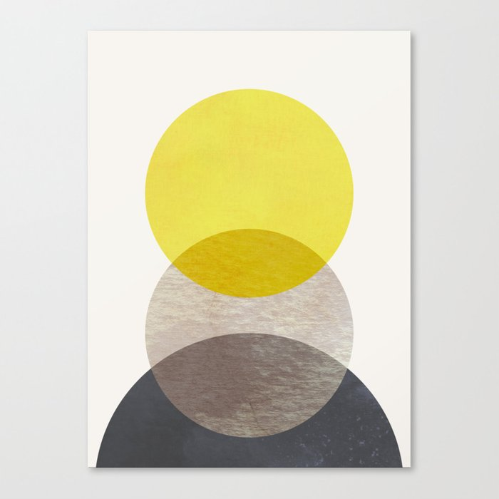 SUN MOON EARTH Canvas Print