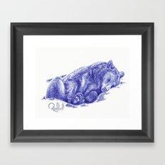 Lazy Bear Framed Art Print