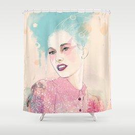 FASHION ILLUSTRATION 4 Shower Curtain