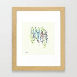 Falling Lavender Framed Art Print