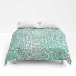 Floral Abstract 28 Comforters