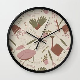 A Day in the Garden - Rose Wall Clock