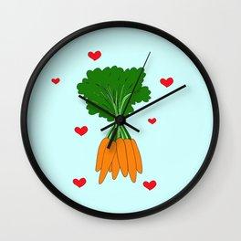Happy Carrots Wall Clock