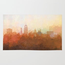 Lansing, Michigan Skyline - In the Clouds Rug