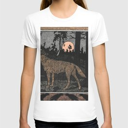 Wolf in the Night By Ivan Biblin T-shirt