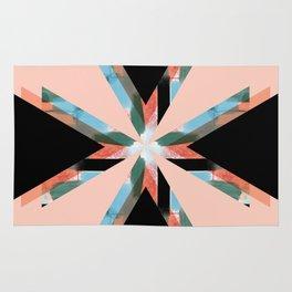 Three Triangles Geometric in Black Rug