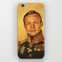 neil gaiman iPhone & iPod Skins featuring Neil Armstrong - replaceface by replaceface