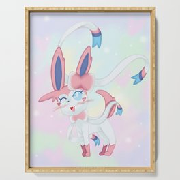 Sylveon in Pastel Space Serving Tray