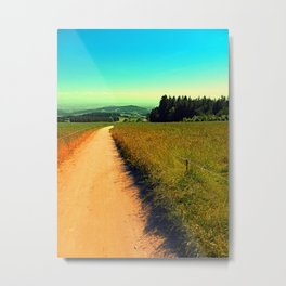 Hiking on a hot afternoon Metal Print