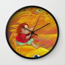 Flight of the Goldfish Wall Clock