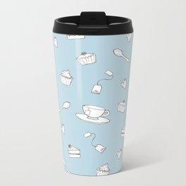 'Afternoon Tea' Simple Pattern Metal Travel Mug