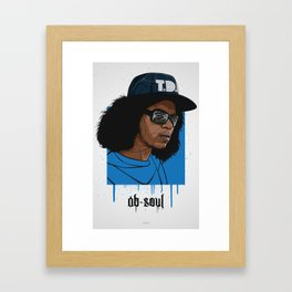 Ab Soul Framed Art Print