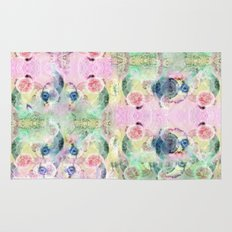 Ysmite Argate-crystal, floral, pastel, abstract Rug