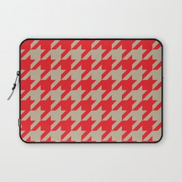 Houndstooth (Brown and Red) Laptop Sleeve