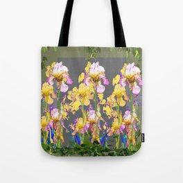 SPRING IRIS GARDEN FLORAL & IVY PATTERN DESIGN Tote Bag