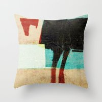 aries Throw Pillows featuring Aries by Fernando Vieira
