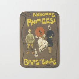 Vintage French Advertising Abbots Phit-tees Boots Bath Mat