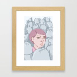 Against the Wave Framed Art Print