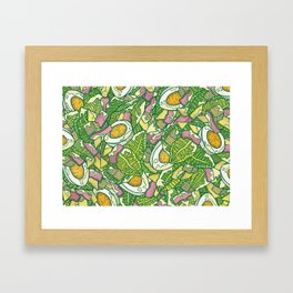 Ceasar Salad Framed Art Print