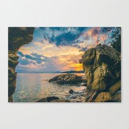 Skiathos Island Susnet Canvas Print
