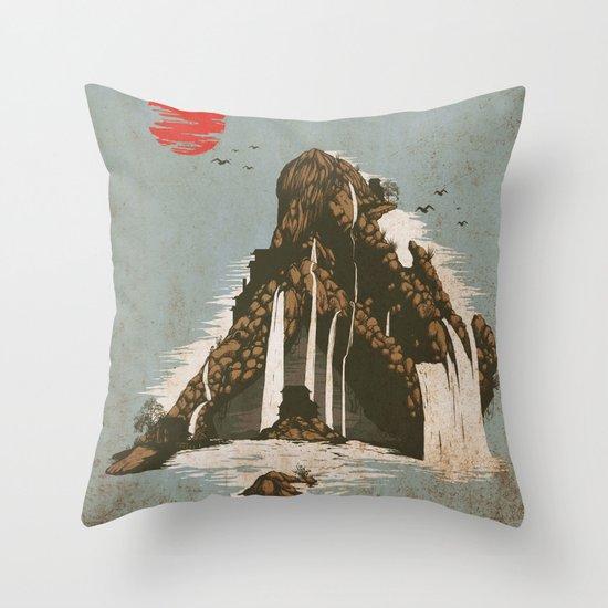 hidden castle Throw Pillow