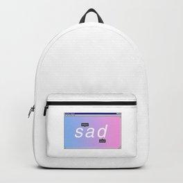 Sad Aesthetic Vaporwave Gift Notepad Window Emotional design Backpack