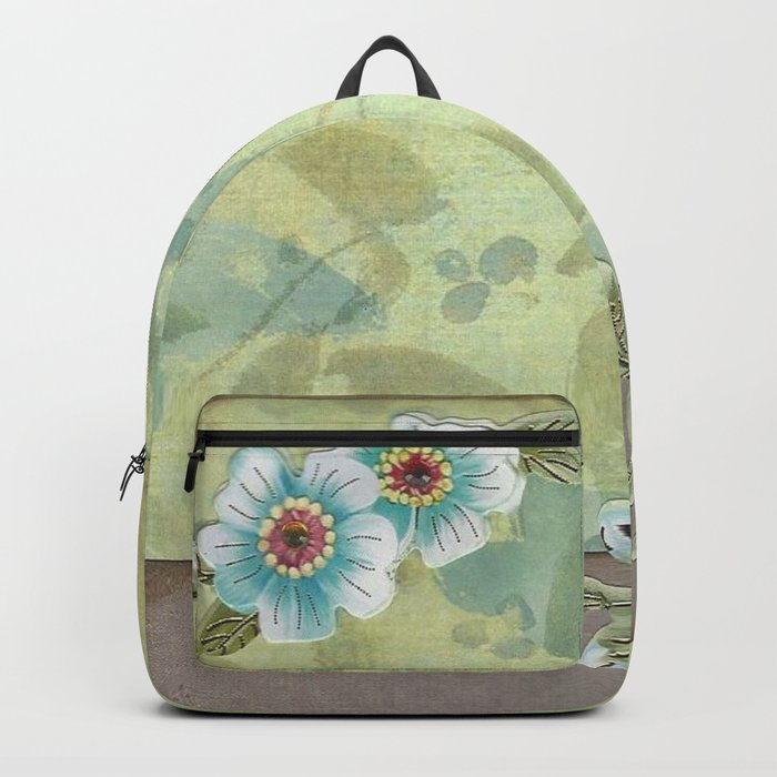 Brown paper flowers Backpack