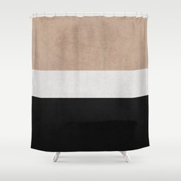 classic - natural, cream and black Shower Curtain