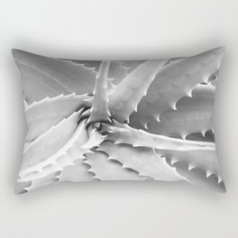 Agave Leaves | Black and White Rectangular Pillow