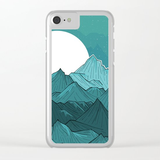 The Turquoise Mounts Clear iPhone Case