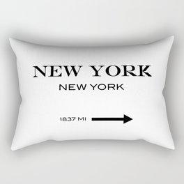 New york Rectangular Pillow