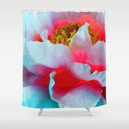 Vibrant Multicolor Floral teture Shower Curtain