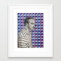 mike wrobel Framed Art Prints featuring Mike by Caitlin Audrey Smith