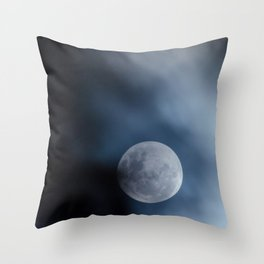 Moon blue 4 Throw Pillow
