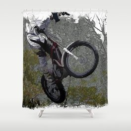 Off-roading - Motocross Racing Shower Curtain