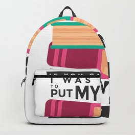 Funny Book Lover - Bookworm - Book Fanatic Backpack