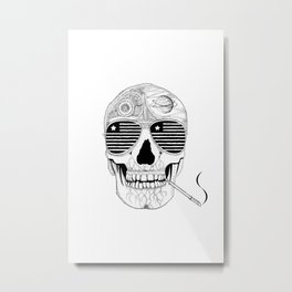 GONZO SKULL (INK ONLY) Metal Print