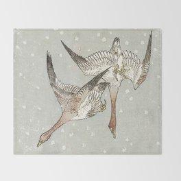 Snow Geese Throw Blanket