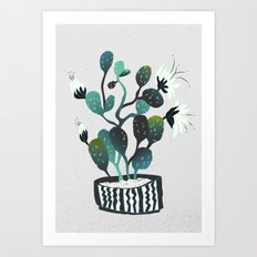 Noir Cactus Art Print