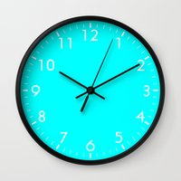 aqua Wall Clocks featuring Aqua by Beautiful Homes