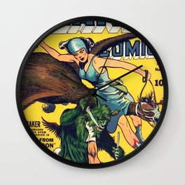Raiders From The Red Moon Wall Clock