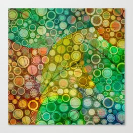 Leaves and Dots Canvas Print