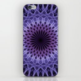 Pretty pink and violet mandala iPhone Skin