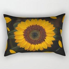 Sunflower yellow green Rectangular Pillow