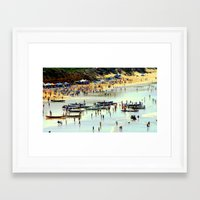 rowing Framed Art Prints featuring Rowing Regatta by Chris' Landscape Images & Designs